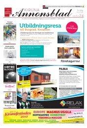 Kiruna Annonsblad vecka 24, torsdag 14 juni 2012 sidan 1