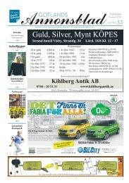 GOTLANDS ANNONSBLADvecka 33, torsdag 16 augusti 2012 sidan 1