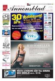 Kiruna Annonsblad vecka 10, torsdag 8 mars 2012 sidan 1