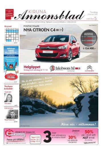 Kiruna Annonsblad vecka 5, torsdag 3 februari sidan 1