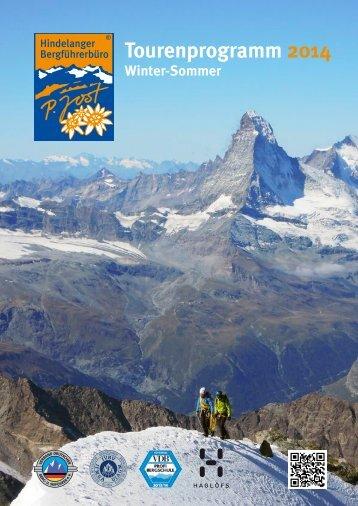 Tourenprogramm Sommer - Hindelanger Bergführerbüro