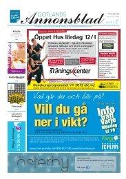 GOTLANDS ANNONSBLADvecka 2, torsdag 10 januari 2013 sidan 1