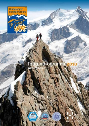 Tourenprogramm 2010 - Hindelanger Bergführerbüro