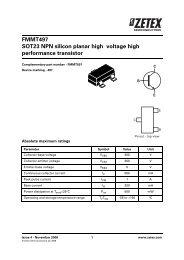 FMMT 619 SOT-23 NPN transistor 5 X DIODI Inc.