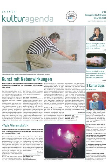 Berner Kulturagenda 2014 N°36