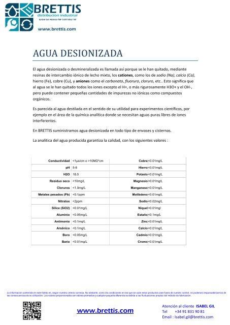 AGUA DESIONIZADA