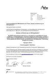 Rundschreiben der KfW-Bankengruppe vom 21.02.2011