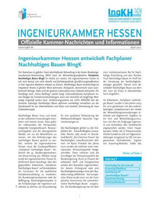 April 2011 - Ingenieurkammer Hessen