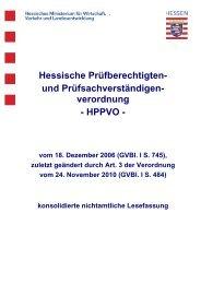 Vorblatt zur HPPVO - Ingenieurkammer Hessen