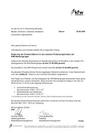 Rundschreiben der KfW-Bankengruppe vom 26.08.2009