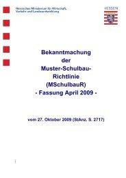 Muster-Schulbau-Richtlinie (MSchulbauR)