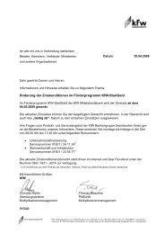 Rundschreiben der KfW-Bankengruppe vom 30.04.2009