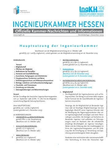 Sonderbeilage - Ingenieurkammer Hessen