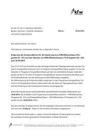 Rundschreiben der KfW-Bankengruppe vom 29.04.2010