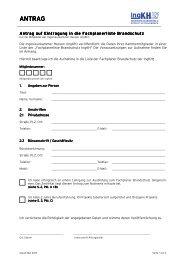 Antrag auf Eintragung in die Fachplanerliste Brandschutz IngKH