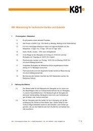 K81 Mietvertrag für technische Geräte und Zubehör