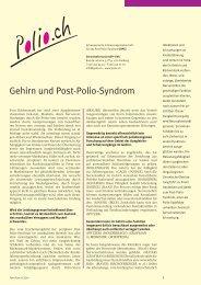 Gehirn und Post-Polio-Syndrom