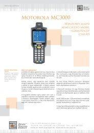 Motorola MC3000 adatgyűjtő mobil számítógép terméklap - META