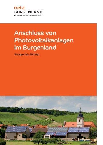 Anschluss von Photovoltaikanlagen im Burgenland - Energie ...