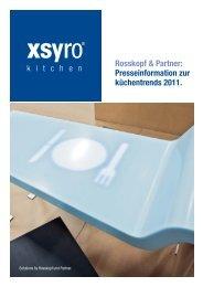 Rosskopf & Partner: Presseinformation zur küchentrends 2011.