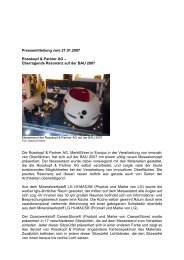 Pressemitteilung vom 21.01.2007 Rosskopf & Partner AG ...