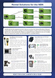 Download our National Broadband Testing Brochure ... - Tech-Rentals