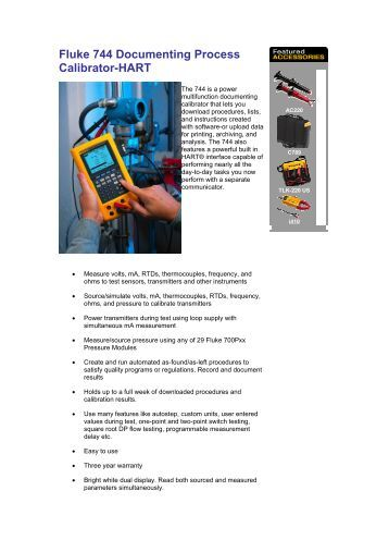 figure 3 process setup se fluke 744 documenting process calibrator hart tech rentals