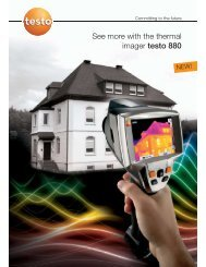 See more with the thermal imager testo 880 - Tech-Rentals