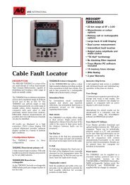 Cable Fault Locator - Tech-Rentals