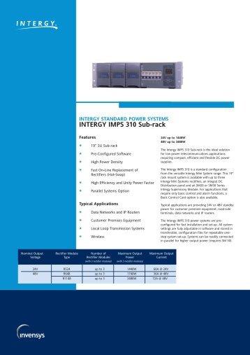 INTERGY IMPS 310 Sub-rack - Tech-Rentals