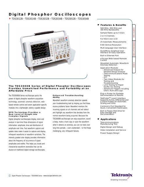 Tektronix TDS3AAM Application Module Advanced Analysis
