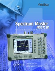 Spectrum Master MS2711D - Tech-Rentals