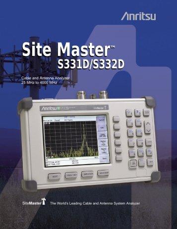 Site Master™ Site Master™ - Tech-Rentals