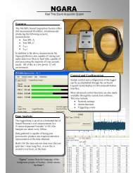 Real Time Sound Acquisition System Control and ... - Tech-Rentals