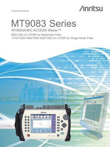 MT9083 Series MT9083A/B/C ACCESS Master - Ross Fiber Optic ...