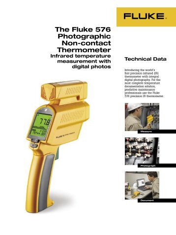 The Fluke 576 Photographic Non-contact Thermometer - DigiKey