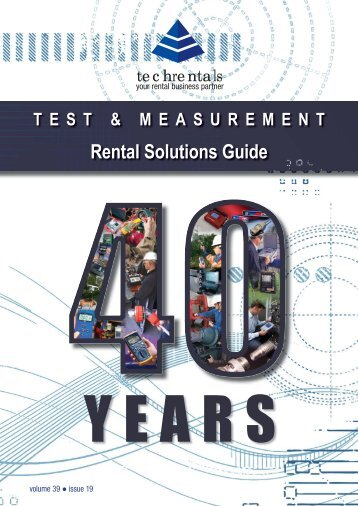 Download our Equipment Solutions Brochure (14 MB) - Tech-Rentals