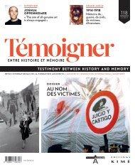 Revue : Témoigner entre histoire et mémoire - n° 118 (septembre 2014) : Au nom des victimes. Dictature et terreur d'État en Argentine, Chili et Uruguay
