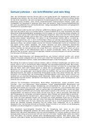 Samuel Johnson - Tourette-Gesellschaft Deutschland