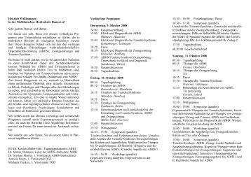 Flyer Vorprogramm - Tourette-Gesellschaft Deutschland