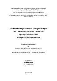 Zusammenhänge zwischen Zwangs- und Ticstörungen - Tourette ...