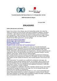 einladung - Tourette-Gesellschaft Deutschland