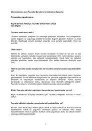 Tourette sendromu - Tourette-Gesellschaft Deutschland