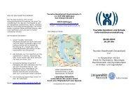 Veranstaltungsflyer - Tourette-Gesellschaft Deutschland