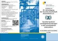 Programm Jahrestagung 2012 (pdf) - Tourette-Gesellschaft ...