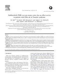Subthreshold rTMS over pre-motor cortex has no effect on tics in ...