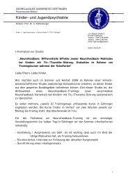 Kinder- und Jugendpsychiatrie - Tourette-Gesellschaft Deutschland