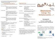 Programm Jahrestagung 2009 | Kooperation mit DGZ (pdf)