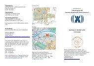 Programm zur Jahrestagung - Tourette-Gesellschaft Deutschland