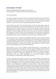 Zuckungen im Kopf - Tourette-Gesellschaft Deutschland